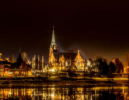The City Church in Umea, Sweden photo
