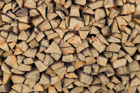 neatly stacked: Firewood Neatly Stacked (pine)