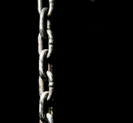 linkage: Chain Close Up with black background.
