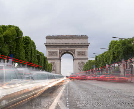 paris france: Arch of Triumph in Paris, France Stock Photo