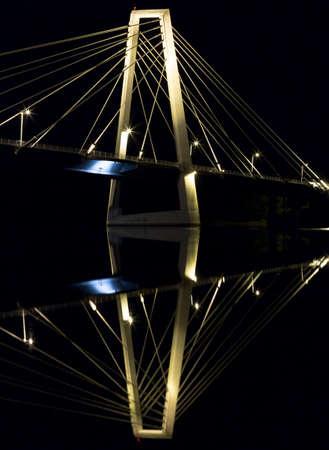 cable bridge: Cable Bridge in Umea, Sweden Stock Photo