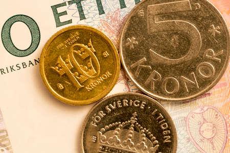 swedish: Swedish Currency Close Up Stock Photo