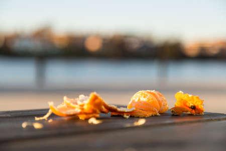 clementine: Pealed Half Eaten Clementine