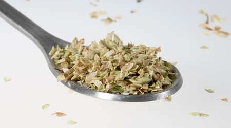 oregano: Dried Oregano on Tablespoon