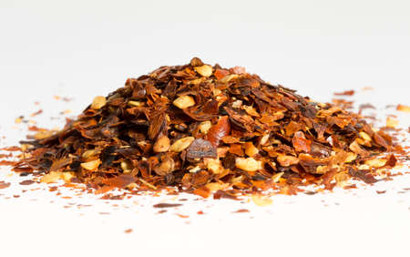 crushed red peppers: Dried Chili Pepper in a Pile