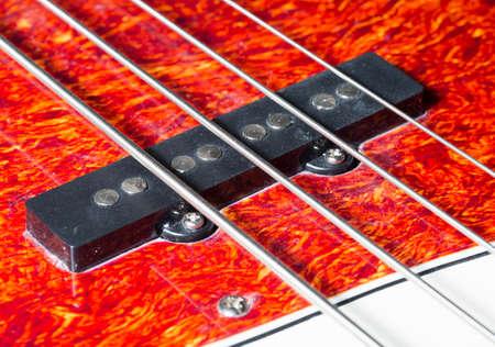 pickups: Bass Guitar Pickups Close Up