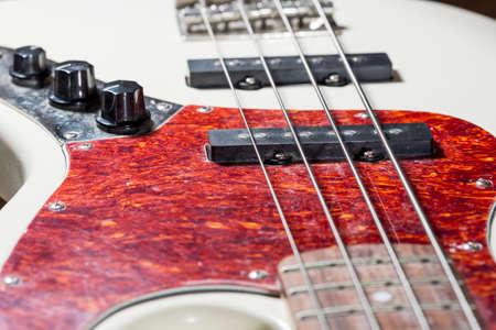 bass guitar: Bass Guitar Close Up Stock Photo
