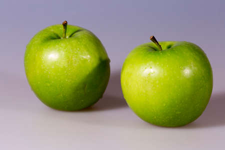 granny smith: Pair of Granny Smith Apples Stock Photo