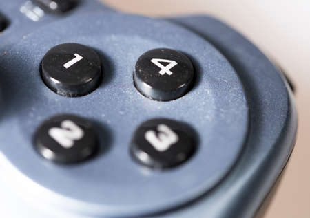 game controller: Video Game Controller buttons close up