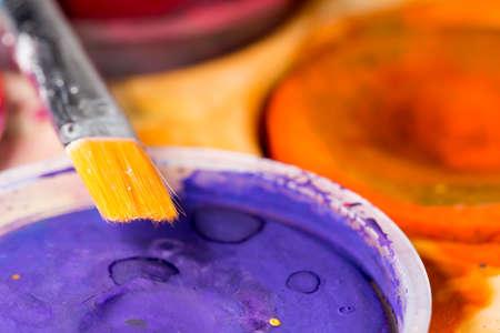 close up: Paintbrush Close Up