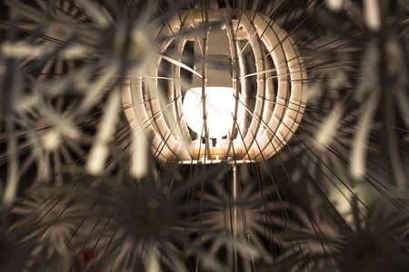 lamp light: Lamp Shade Close Up Stock Photo