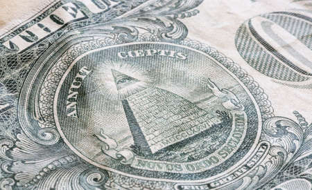 new ages: The Great Seal on the US One Dollar Bill Close up