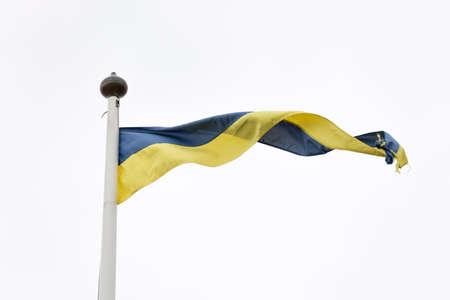 swedish: Swedish Yellow and Blue Pennant on whitegrey background.
