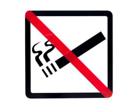 no smoking sign: No Smoking Sign on isolated white background.