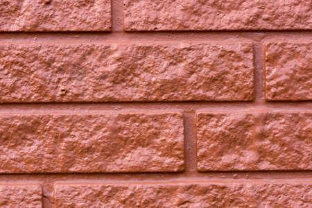 close up: Painted Brick Wall Close Up.