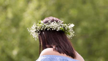 Midsummer Headgear Close Up. Stock Photo