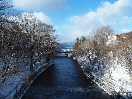 edge of the ice: Nikko, Japan