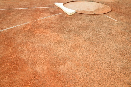 shot put: lanzamiento de peso de tenis Foto de archivo