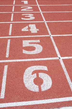 racetrack: number of racetrack Stock Photo