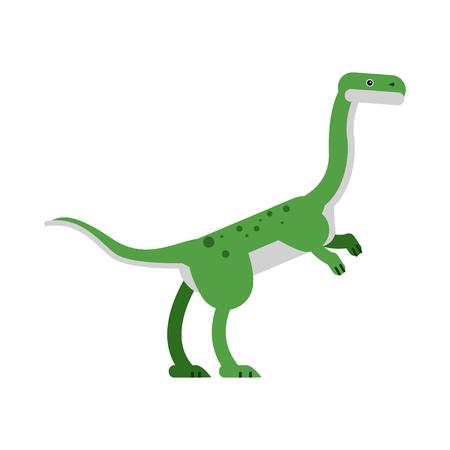 Cute cartoon hypsilophodon dinosaur Illustration