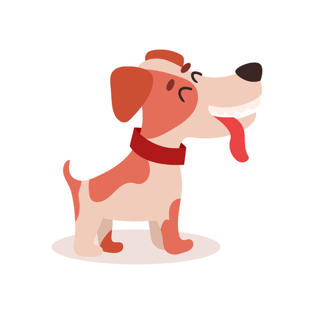 Cute funny jack Russell terrier dog character on white background.