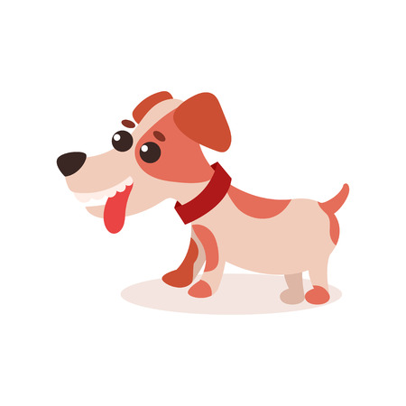 A Jack Russell terrier character on white background.