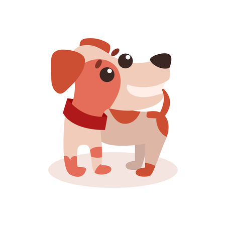 Cute funny jack russell terrier dog character vector Illustration