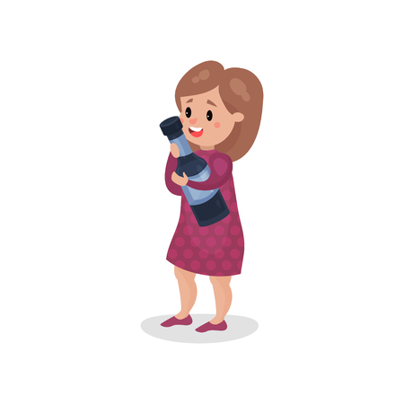 Young woman holding giant bottle of alcohol, harmful habit and addiction cartoon vector Illustration Illustration
