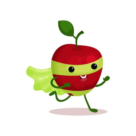 Personaje de dibujos animados de una súper fruta. Vectores