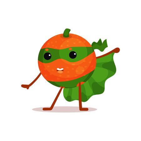Ilustración de personaje de dibujos animados de naranja.