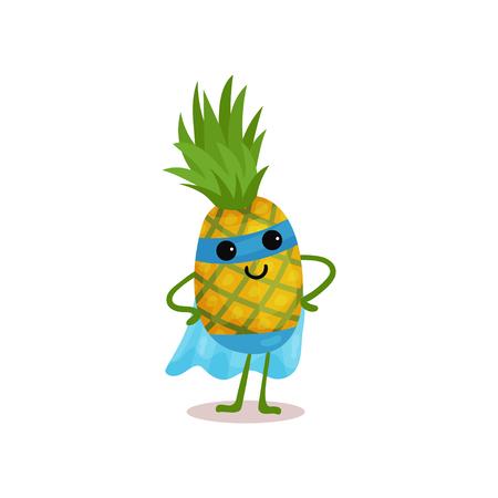 Ilustración de personaje de dibujos animados de frutas.