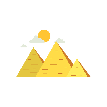 Egypt Great Pyramids, sign of traditional Egyptian culture vector Illustration Illustration