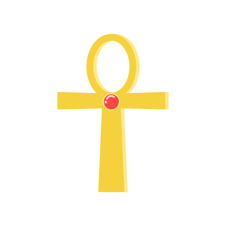 Ankh cross, religious sign of the ancient Egyptian cross, symbol of life, traditional Egyptian culture vector Illustration Stock Photo