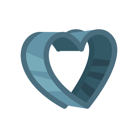 Heart shaped pastry cutter vector Illustration