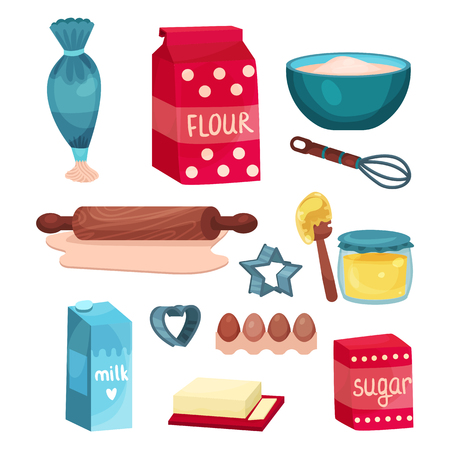 Set of baking and cooking equipments.