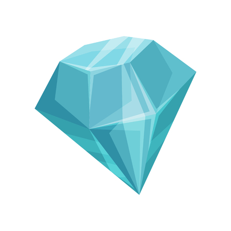 Blue diamond cartoon vector Illustration Illustration
