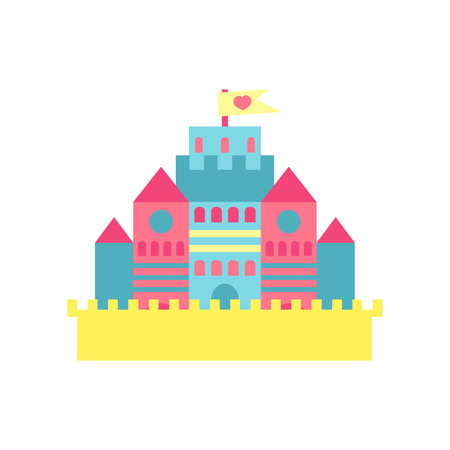 Colorful princess castle cartoon vector Illustration Stock Photo