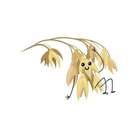 mignon drôle oreille de bande dessinée de personnage d & # 39 ; avoine illustration vecteur sur un fond blanc