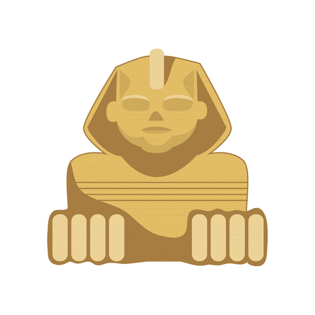 Egyptian Sphinx statue, symbol of ancient Egypt cartoon vector Illustration on a white background Vectores