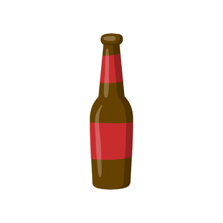Bottle of beer cartoon vector Illustration on a white background