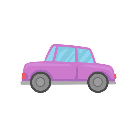 Retro violet car cartoon vector Illustration on a white background. 일러스트