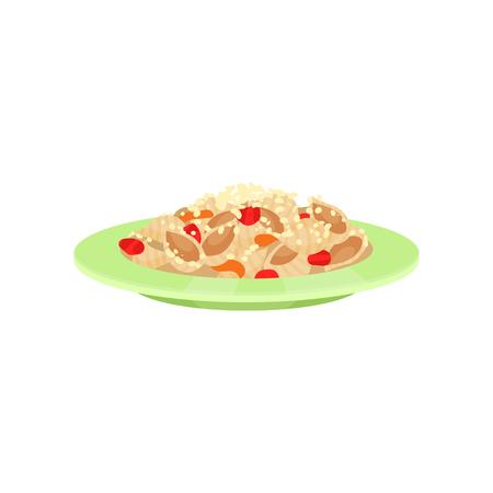 Cooked pasta, Italian cuisine vector Illustration Illustration