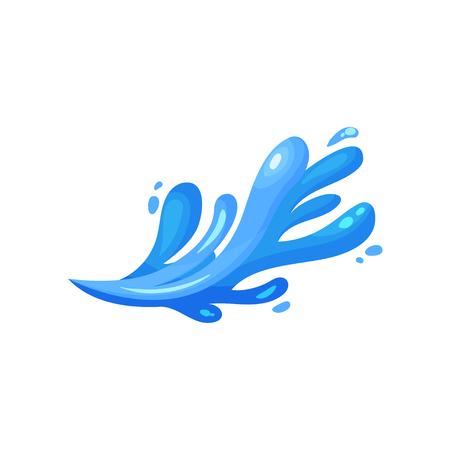 Blue wave marine, oceanic and nautical theme vector Illustration