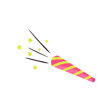 Colorful party blower, whistle or noisemaker. Birthday celebration symbol.