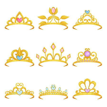 Collection of various royal crowns image