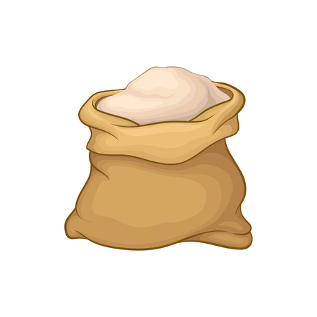 Sack full of flour image illustration