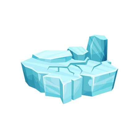 Ice island for game user interface, element for video games, computer or web design vector illustration.