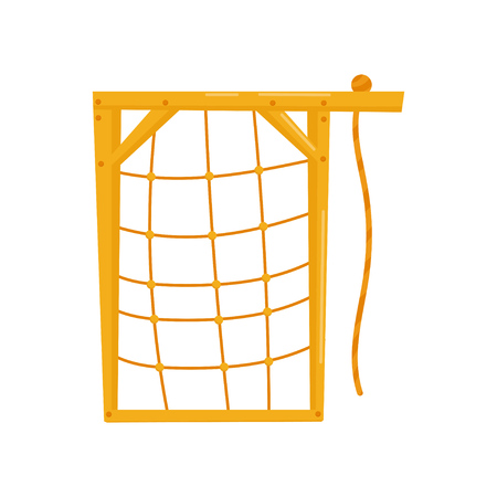 Climbing net, kids playground element vector Illustration isolated on a white background.