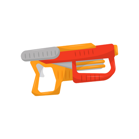 Toy gun, weapon pistol for kids game vector Illustration on a white background