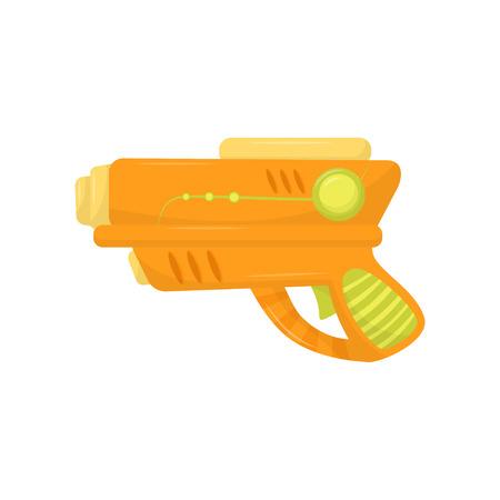 Pistola de juguete naranja, pistola de arma para vector de juego de niños ilustración sobre un fondo blanco